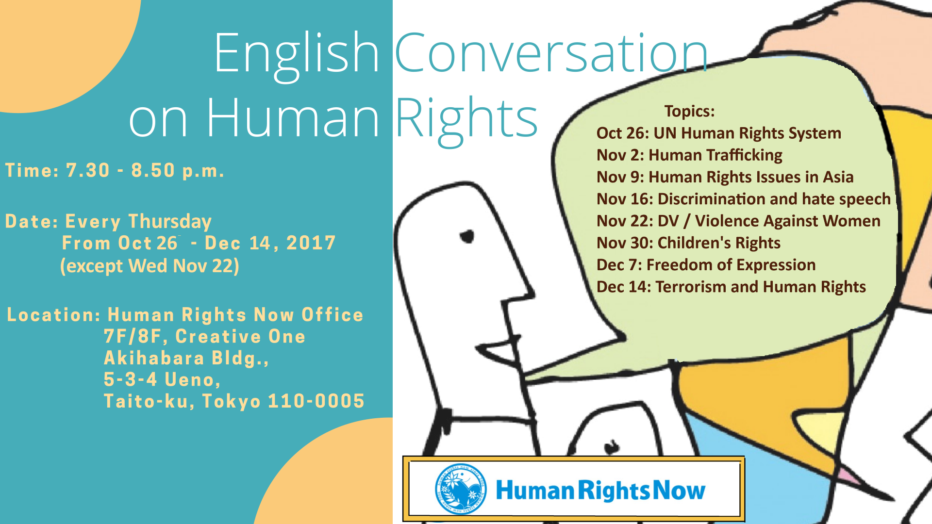 Easy English Discussion Course on Human Rights | Human